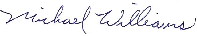 Michael Williams Signature