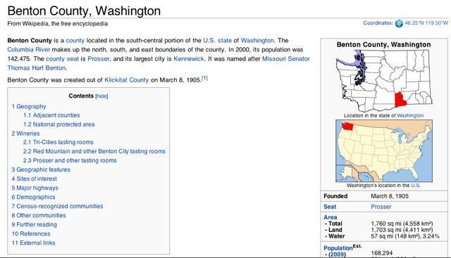 Wikipedia Benton County