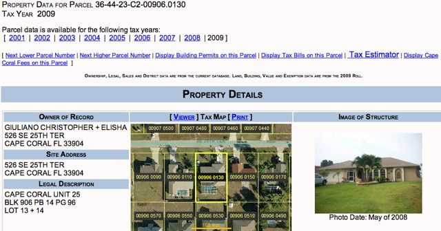 Property Lien Search Lee County Florida