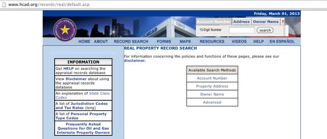Hcad Org Property Search